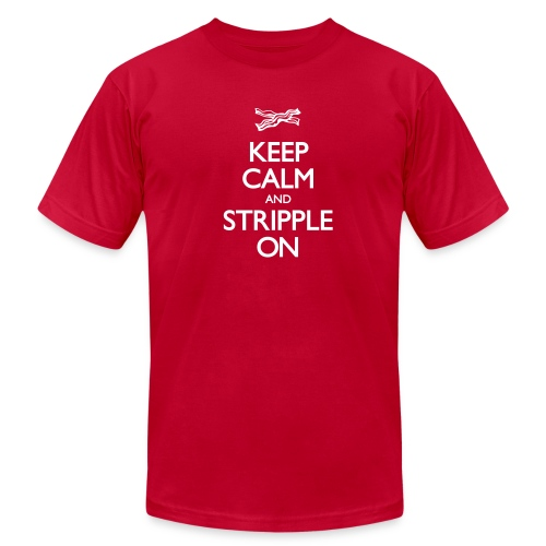 Keep Calm and Stripple On - Men's - Men's  Jersey T-Shirt