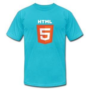 html5_men_blue_shirt - Men's Fine Jersey T-Shirt