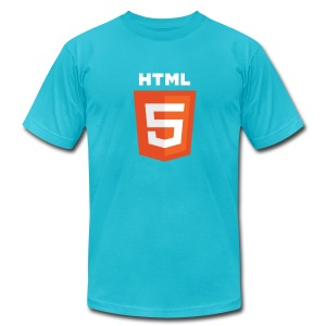 html5_men_blue_shirt - Men's T-Shirt by American Apparel