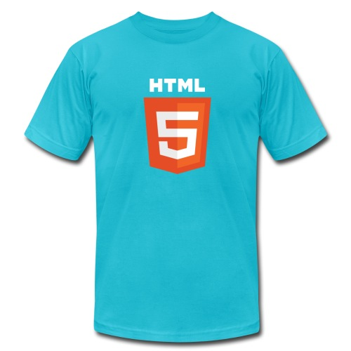 html5_men_blue_shirt - Men's Fine Jersey T-Shirt