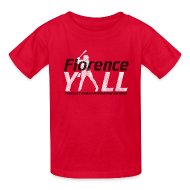 Kids' Shirts ~ Kids' T-Shirt ~ Florence Y'all (black writing) Kids Tee