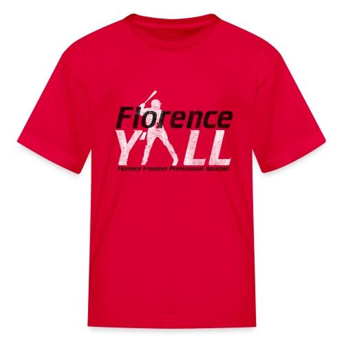 Florence Y'all (black writing) Kids Tee - Kids' T-Shirt