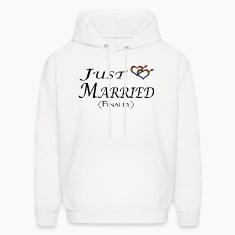 Just married (Finally), Gay pride, with heart shap Hoodies