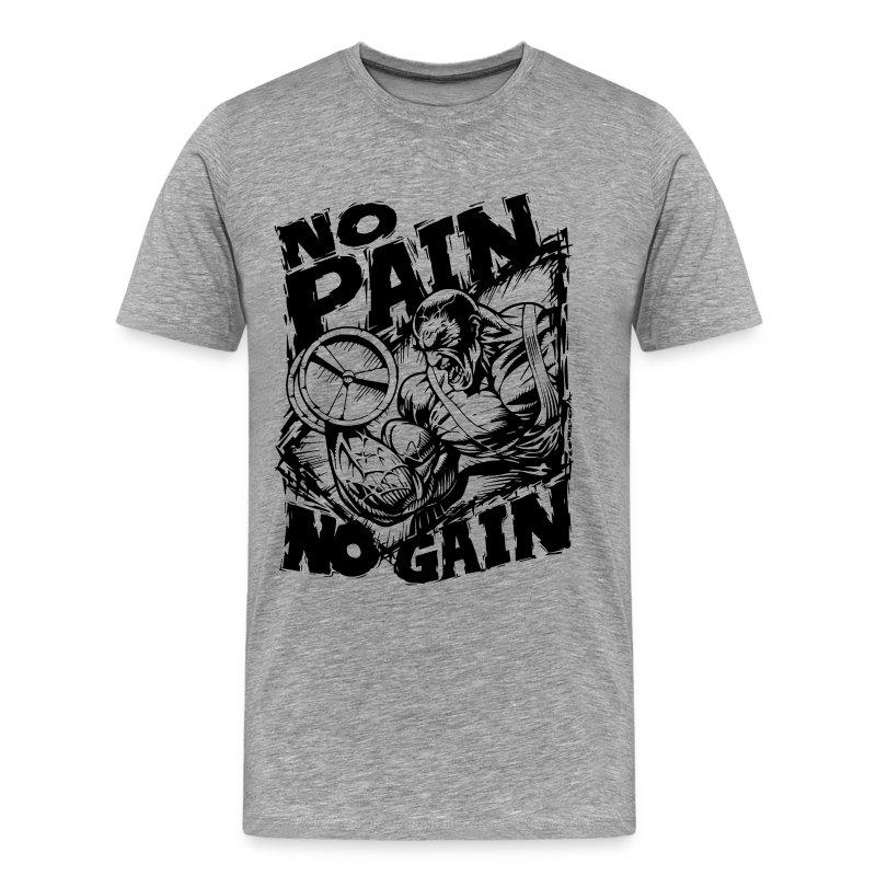 No pain no gain t shirt spreadshirt for Gym shirts womens funny