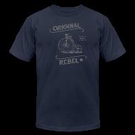 T-Shirts ~ Men's T-Shirt by American Apparel ~ Original Rebel - Men's (gray)