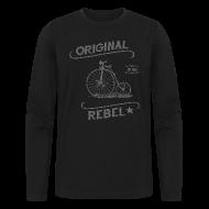 Long Sleeve Shirts ~ Men's Long Sleeve T-Shirt by Next Level ~ Original Rebel - Men's Gray Long Sleeve