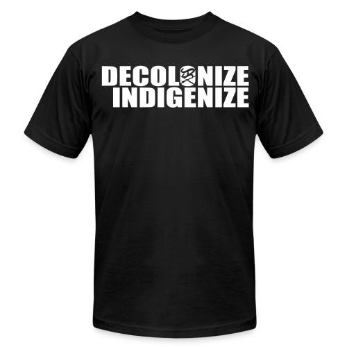 Decolonize Indigenize shirt - Men's  Jersey T-Shirt