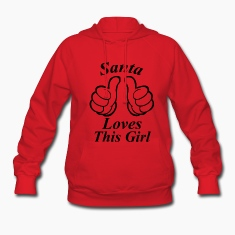 santa loves  ths girl Hoodies
