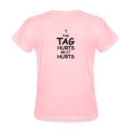 Women's T-Shirts ~ Women's T-Shirt ~ Conservative Tag Hurts K with arrow
