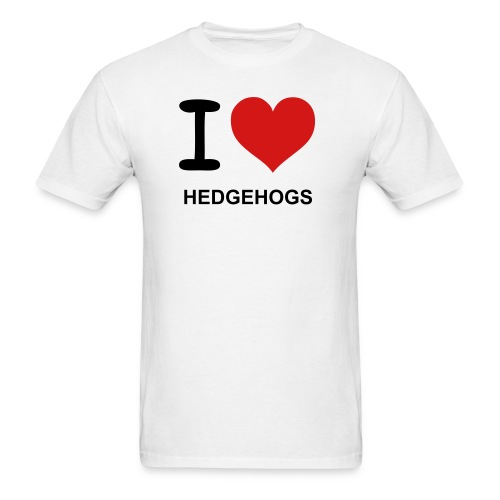 I love hedghogs - Men's T-Shirt