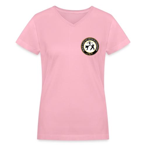 Women's V-Neck T-Shirt - Logo on front