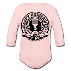 Nappy University w/Crest Baby Long Sleeve One Piece - Long Sleeve Baby Bodysuit