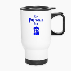 my patrons is a tardis Bottles & Mugs