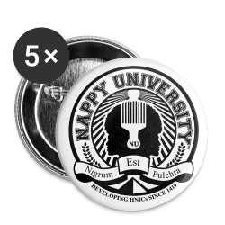 Nappy University w/Crest Large Buttons - Large Buttons