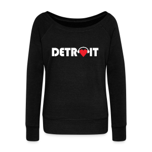 DETROIT MUSIC - Women's Wideneck Sweatshirt