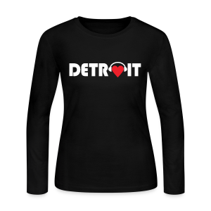 DETROIT MUSIC - Women's Long Sleeve Jersey T-Shirt
