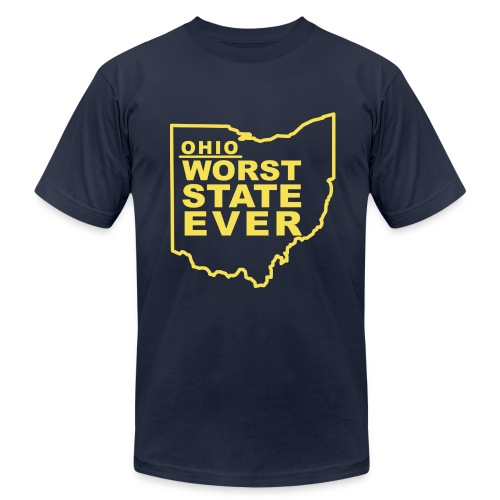 OHIO WORST STATE EVER - Men's Fine Jersey T-Shirt