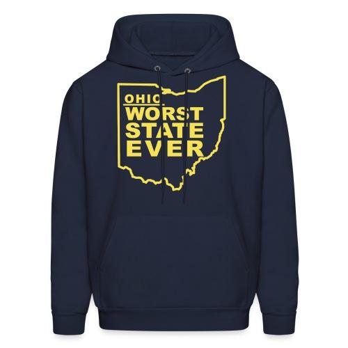 OHIO WORST STATE EVER - Men's Hoodie