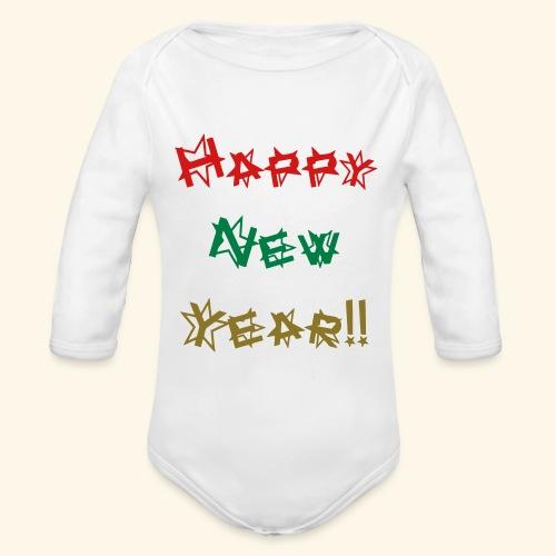 Happy New Year - Organic Long Sleeve Baby Bodysuit