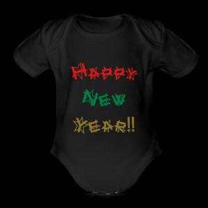 Happy New Year - Short Sleeve Baby Bodysuit