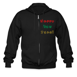 Happy New Year - Men's Zip Hoodie