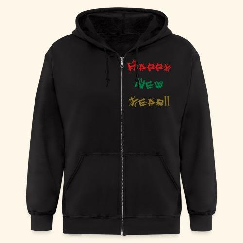 Happy New Year - Men's Zip Hoodie