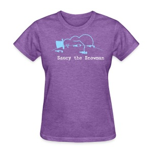 Saucy the Snowman Women's T - Women's T-Shirt