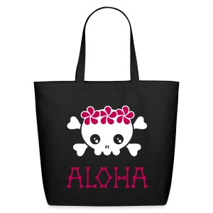Aloha Skull Large Tote - Eco-Friendly Cotton Tote