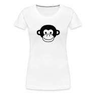 T-Shirts ~ Women's Premium T-Shirt ~ Monkey Face