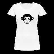 Women's T-Shirts ~ Women's Premium T-Shirt ~ Monkey Face