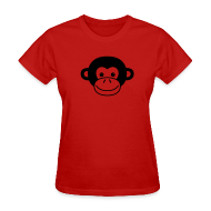 T-Shirts ~ Women's T-Shirt ~ Monkey Face