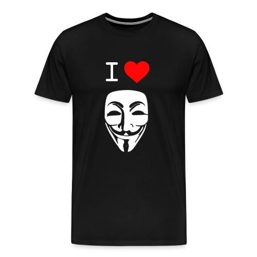 I Love Anonymous - Men's Premium T-Shirt