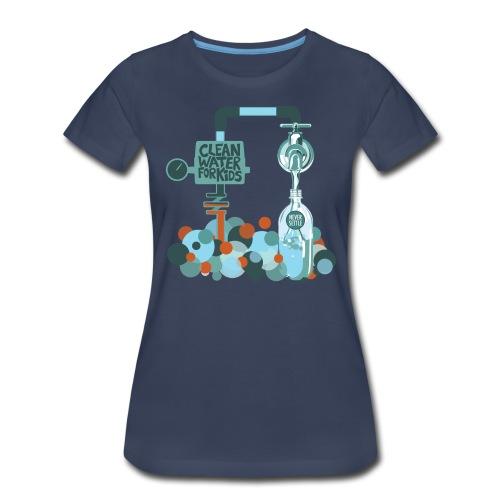 Clean Water Tee (Navy Blue) - Women's Premium T-Shirt