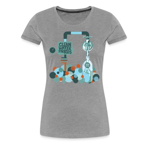 Clean Water Tee (Heather Grey) - Women's Premium T-Shirt