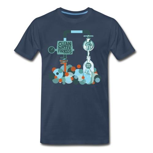 Clean Water Tee (Navy Blue) - Men's Premium T-Shirt