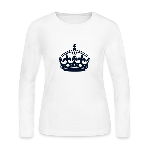 Women's Long Sleeve Jersey T-Shirt - *THIS PRINT IS BLACK AND SPARKLY.