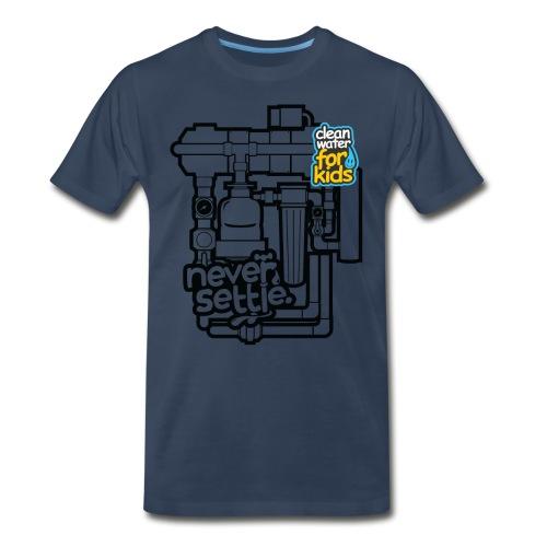 Clean Water Machine Tee (Navy Blue) - Men's Premium T-Shirt