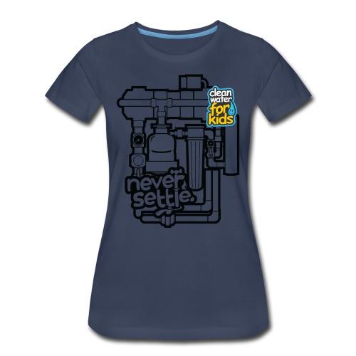 Clean Water Machine Tee (Navy Blue) - Women's Premium T-Shirt