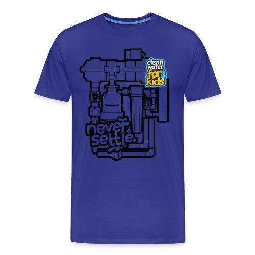 Clean Water Machine Tee (Royal Blue) - Men's Premium T-Shirt