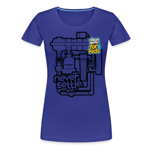 Clean Water Machine Tee (Royal Blue) - Women's Premium T-Shirt