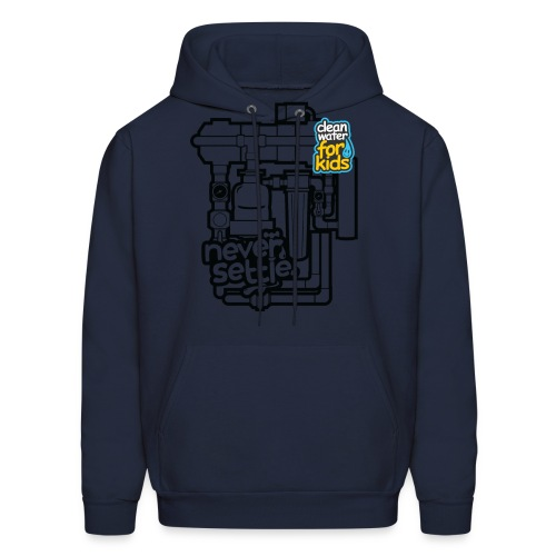 Clean Water Machine Sweatshirt (Navy Blue) - Men's Hoodie