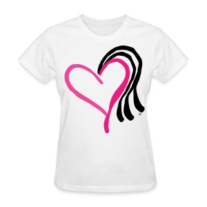 Love, Money, & Weave Heart T-Shirt - Women's T-Shirt