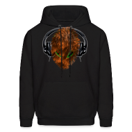Hoodies ~ Men's Hoodie ~ Cute Furry Alien DJ with Headphones