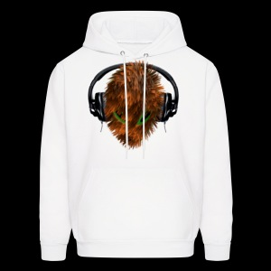 Hoodie with Cuddly Furry Alien DJ in Headphones - Men's Hoodie