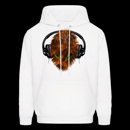 Hoodie with Cuddly Furry Alien DJ in Headphones - Men's Hoodie
