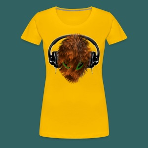 T shirt for her - Cuddly Fury Alien DJ with Headphones - Women's Premium T-Shirt