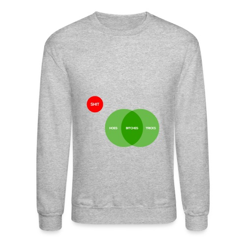 Bitches aint shit but hoes and tricks diagram  - Crewneck Sweatshirt