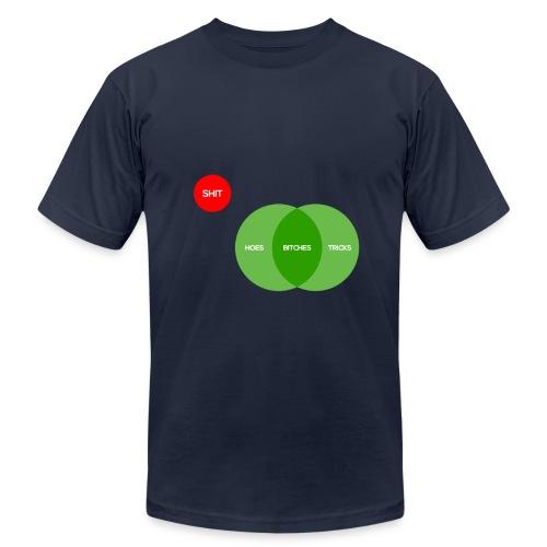 Bitches aint shit but hoes and tricks diagram  - Men's Fine Jersey T-Shirt