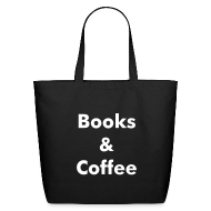 Bags & backpacks ~ Eco-Friendly Cotton Tote ~ Books & Coffee Tote - black