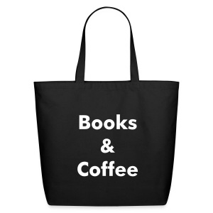 Books & Coffee Tote - black - Eco-Friendly Cotton Tote